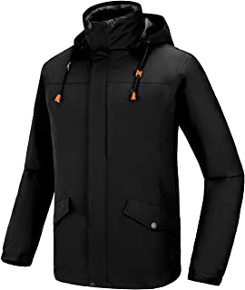 Men's 3 in 1 Ski Jacket Waterproof with Reversible Warm Fleece Jacket Detachable Hooded Outdoor Snow Coat