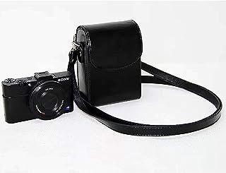 Top-Tech Premium Leather Camera Case with Strap compatible for Sony ZV-1 SONY small camera CASE/CANON Camera CASE camera b...