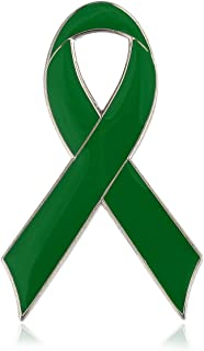CMajor Childhood Depression Awareness Flat Green Ribbon Pins (Wholesale)