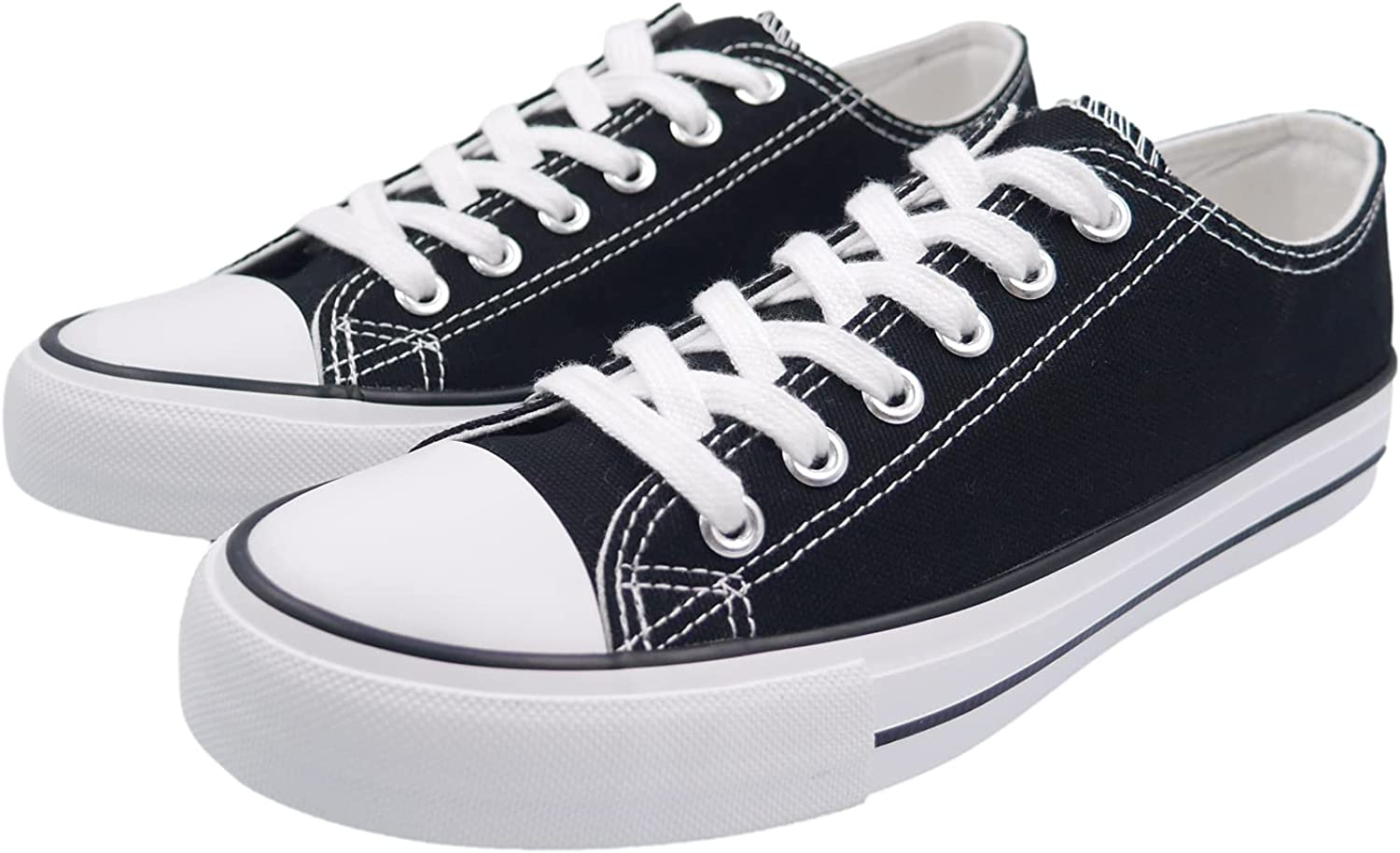 ANTLULU Max 72% OFF Low Top Toe Cap Woman Classic Lace-up Tucson Mall Sh Women Sneakers
