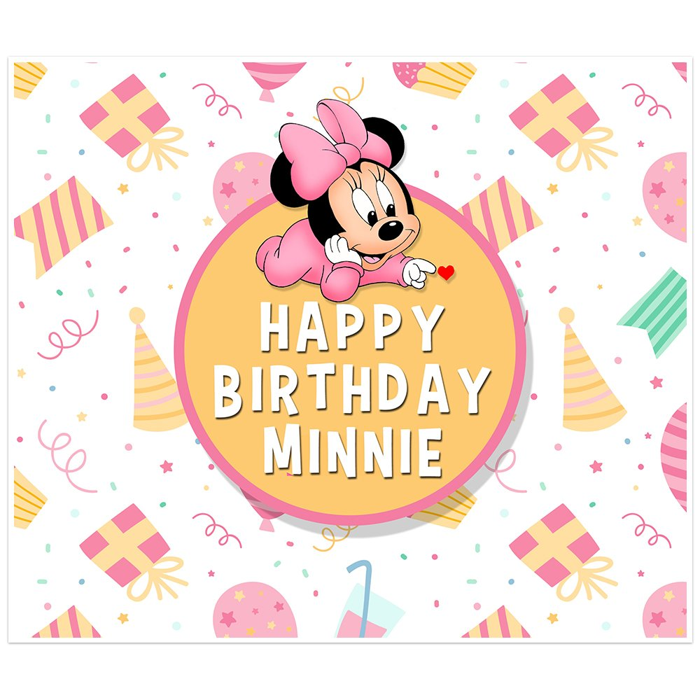 Minnie Mouse Birthday Banner Personalized Table San Antonio Mall Some reservation Backdrop Party D