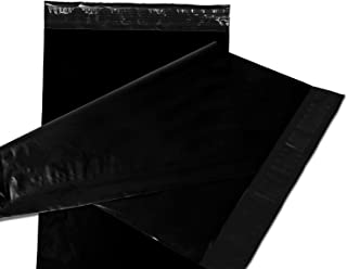 Empire Mailers 6 Inch x 9 Inch Black Poly Mailer Plastic Bags, Self-Seal Non-Padded Shipping Bags, Waterproof and Lightweight, Tear Resistant, Set of 100 Pack