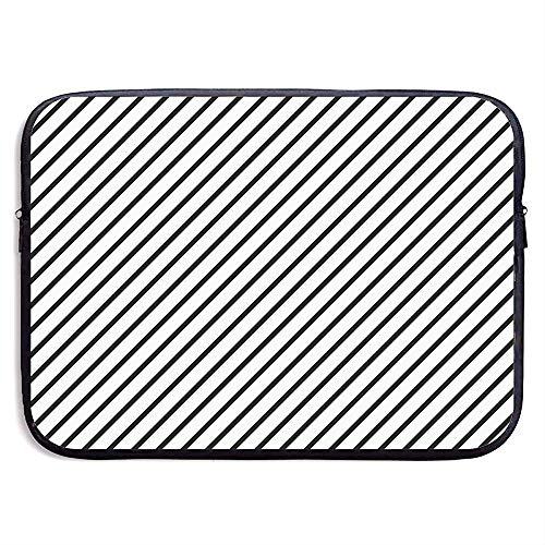 Waterdichte laptophoes tas zwart strepen afdekking voor alle computer notebook 15 inch