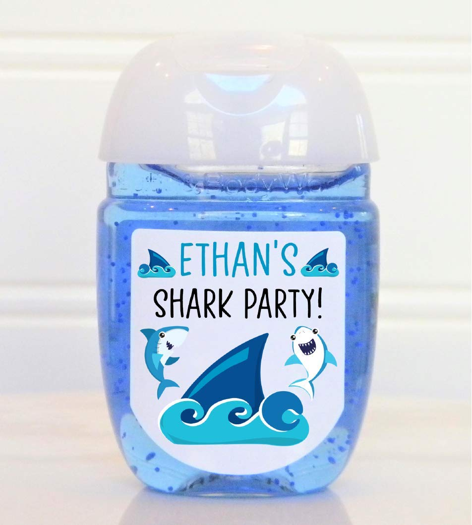 Personalized Raleigh Mall Shark Theme Birthday Favor Favo 25% OFF Labels Party