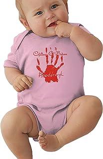 Bennett Child-Ren of-Bodom Boys Girls Rompers Baby Jersey Bodysuit Breathable Short Sleeve Black