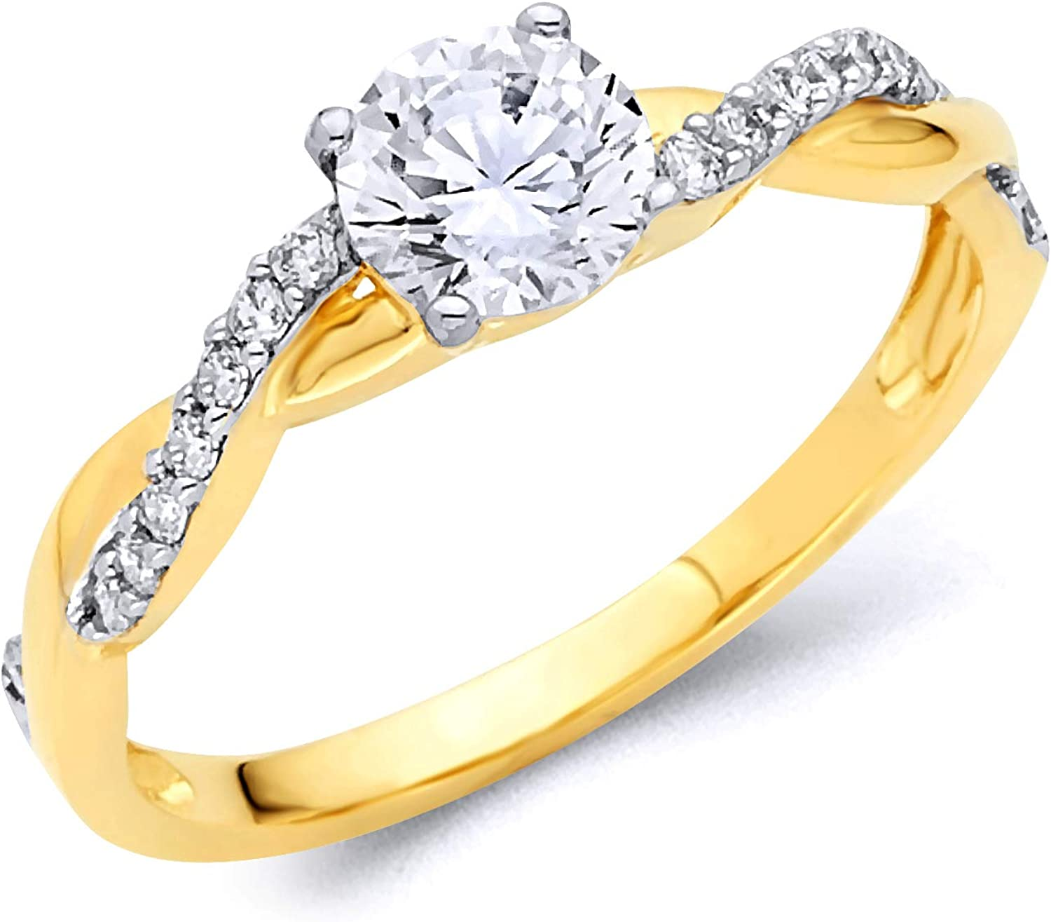 14k Yellow Gold SOLID NEW Popular brand before selling Ring Wedding Engagement