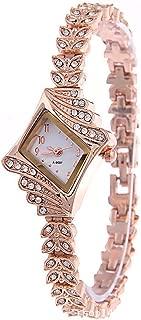 Fabuloso Irregular En forma de diamante Marcar Con Incrustaciones Completo Rhinestone Acero Correa Mujer Relojes