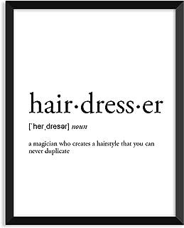 Hairdresser definition - Unframed art print poster or greeting card