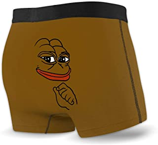 Pepe Meme Frog Men Soft Boxer Briefs Breathable Underwear with Waistband