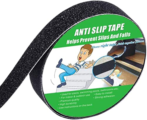 """Anti Slip Tape, High Traction,Strong Grip Abrasive, Not Easy Leaving Adhesive Residue, Indoor & Outdoor (1"""" Width x 1..."""