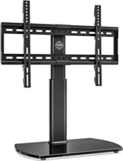 Fitueyes Universal TV Stand /Base Swivel Tabletop TV Stand with Mount for 32 to 65 inch Flat screen TV 80 Degree Swivel, 3...