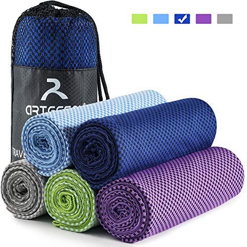 arteesol Mikrofaser Handtuch Handtücher für Sport Fitness Sauna Microfaser Badetuch, Reisehandtuch schnelltrocknend & saugstark (52 * 100cm, Blau)