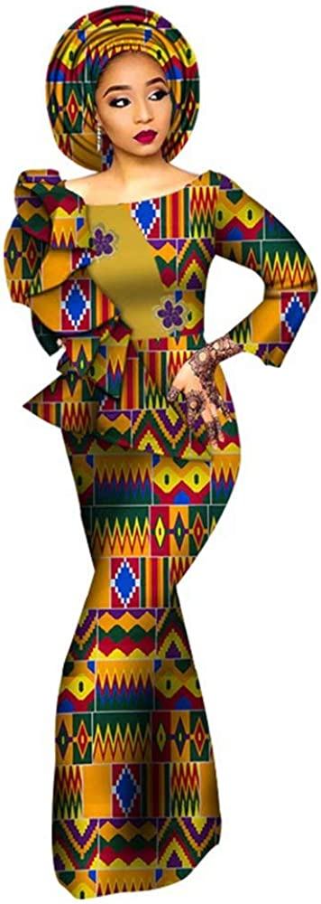 African Dress for Women Print Ruffle Limited Special Price El Maxi Sleeve Long discount Dresses