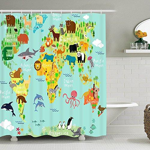 (Bleum Zeder bunten Duschvorhang Zoo & Tiere Bad Vorhang Stoff Polyester für Badezimmer Dekoration.