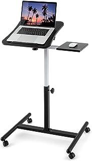 Tatkraft Vanessa skrivbord för bärbar dator, solid och överlägsen stabilitet, bärbar bordsstativ på hjul, Ergonomiskt just...