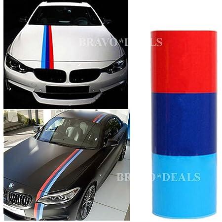 Titao 2m Streifen Flagge Auto Aufkleber Motorhaube Deko Folie Sticker Auto