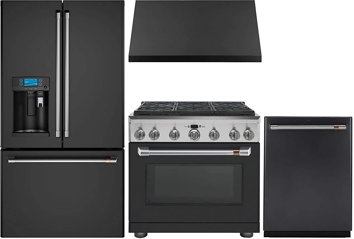 GE Cafe 4 Piece Kitchen Package with CFE28UP3MD1 36