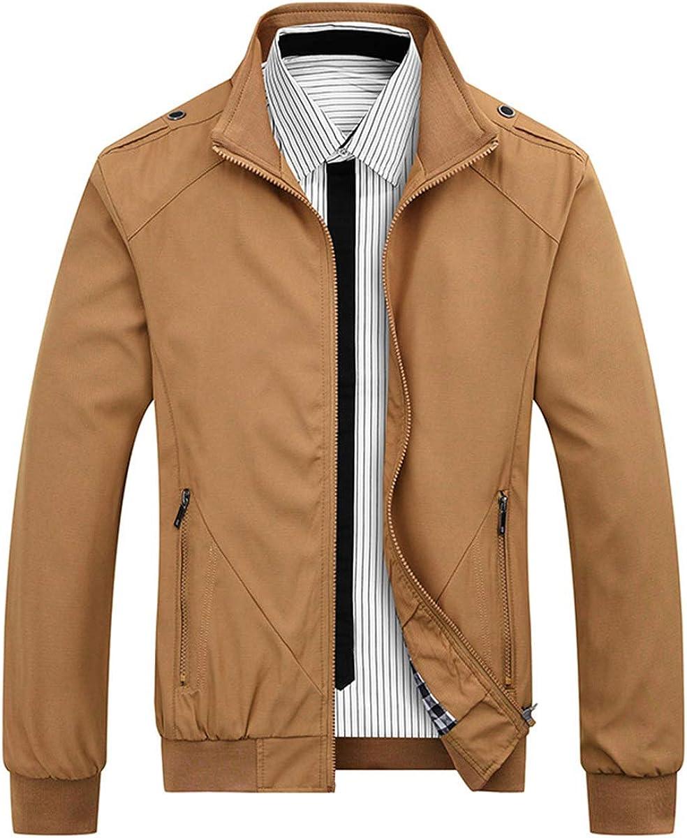 Iynnijoy Mens Lightweight Softshell Bomber Jacket Full Zip Windbreaker Premium Jackets