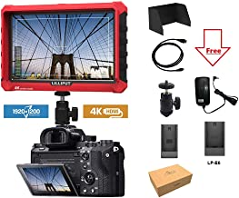 """LILLIPUT Professional A7s 7"""" 1920X1200 4K HDMI Input/Output Video Assist On-Camera Monitor with LP-E6 battery plate by VIVITEQ"""