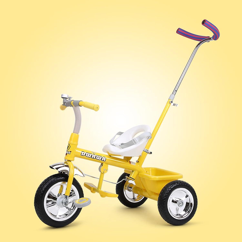 apresurado a ver XQ XQ XQ A prueba de golpes Niño 1-3 años de edad Triciclo Cochecito de bebé ( Color   Amarillo )  online barato