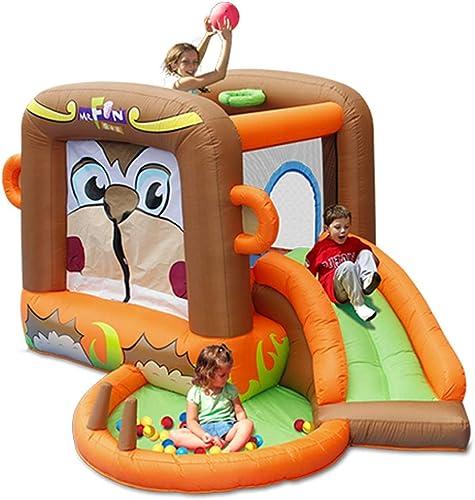 echa un vistazo a los más baratos Castillo Inflable para para para Niños Toboganes para Niños De Jardín De Infantes Juguetes para Niños Castillo Inflable Al Aire Libre del Parque De Diversiones Trampolín para Niños Cuadrado  ahorre 60% de descuento