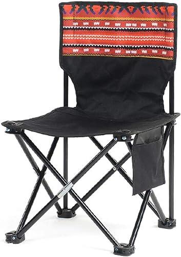Folding chair Chaise De Camping Pliante en Plein Air Loisirs Camping Pêche Tabouret Chaise portable Art Confortable Chaise De Dessin (Couleur   Rouge)