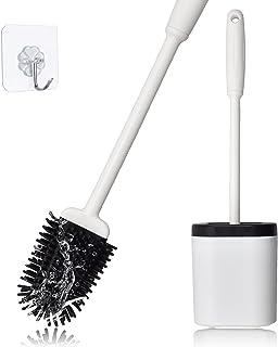 Brosse WC en silicone sans perçage - Avec support à séchage rapide - Pour salle de bain et WC