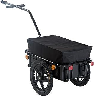 comprar comparacion HOMCOM Remolque de Bicicleta para Carga 40kg Equipaje Reflectores y Asas Negro