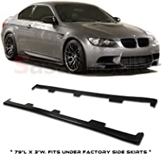 GT-Speed for 06-11 BMW 3-Series E90 E92 E93 325i 328i 335i M3 PU Side Skirt Extension Add-on Lip (May fit on other vehicle/Measure before purchase: 79