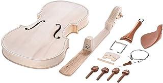 AMNVBD 4/4 pełne rozmiary skrzypce zestaw DIY naturalne lite drewno akustyczne skrzypce zestaw skrzypiec ze świerkiem EQ T...