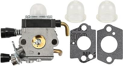 Savior C1Q-S97 FS55R Carburetor with Primer Bulb Gaskets for Stihl FS38 FS45 FS45C FS45L FS46 FS46C FS55 FS55C FS55RC FS55T FS75 FS80 FS80R FS85 FS85R FS85T FS85RX Zama C1Q-S143 C1Q-S153 Carb Trimmer