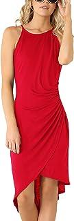 Eliacher Women's Casual Spaghetti Strap Summer Dress Bodycon Midi Party Sleeveless Dresses