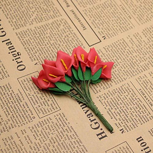 1 stks orchidee kunstbloemen diy vlinder orchidee doek nep bloemen boeket party bruiloft kunstmatige decoraties bloemen, rode oude stijl