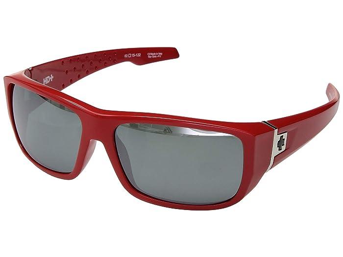 Spy Optic MC3 (Classic Red/HD Plus Gray Green/Silver Spectra Mirror) Athletic Performance Sport Sunglasses