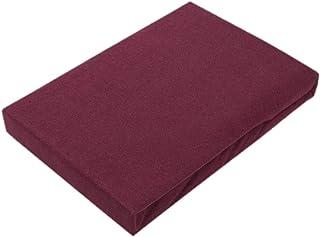 Drap-housse en jersey de qualité supérieure avec élastique, Coton, bordeaux, 120 x 200 cm