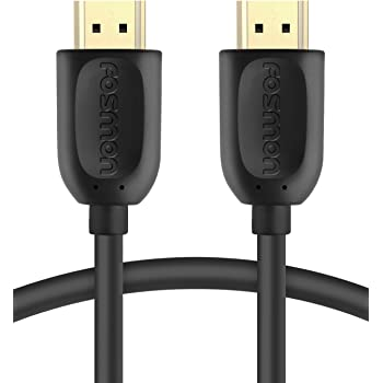 Fosmon 4K HDMI Cable 3 FT, Gold-Plated Ultra High Speed [10.2Gbps UHD 2160p@30Hz 3D HD 1080p] Supports Fire TV, Apple TV, Ethernet, Audio Return, Xbox Playstation PS3 PS4 PC