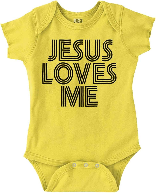 Jesus Loves Me Retro Christian Girls Over item handling Tulsa Mall or Romper Baby Boys
