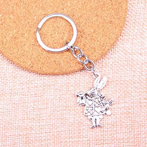 TAOZIAA muzikale konijn trompet charme hanger sleutelhanger sleutelhanger ketting accessoires sieraden maken voor geschenken