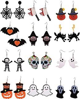 LLYX Regalo del partito Goccia Halloween Horror Spaventoso ornamenti accessori vestire esterno domestico 12 accoppiamenti ...