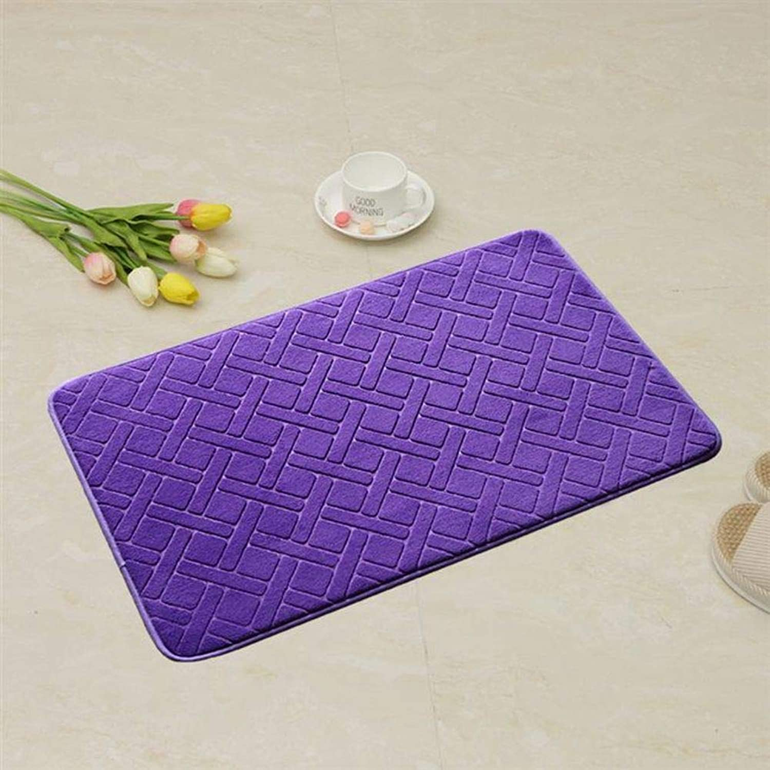 Doormat, No-Slipping mat Easy to Clean Durable Home Decor-Purple 20x31inch