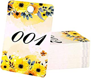 FaCraft Paper Live Numbers Sale Tag Floral with Normal and Reversed Mirrored Numbers 001-100