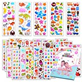 Kids Stickers 1000+, 40 Different Sheets, 3D Puffy Stickers for Kids, Bulk Stickers for Girl Boy Birthday Gift, Scrapbooking, Teachers, Toddlers, Including Animals, Stars, Fishes, Hearts and More