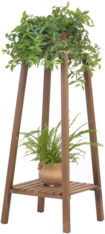 Chuangshengnet Outdoor Indoor Display Plant Stand Display Stand Wooden Pot Rack Storage Rack Outdoor Indoor Balcony Single 2 Pot Rack