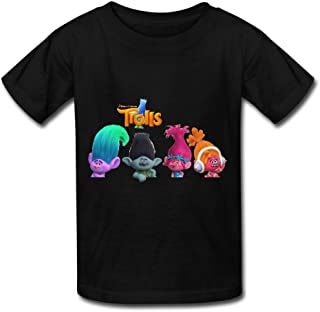 Youth's O-Neck Short Sleeve Shirs For 2016 Trolls Movie