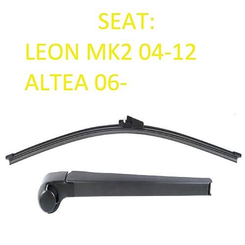 Seat Leon Mk2 MKII Altea Aero trasera limpiaparabrisas hoja Set Inc Cap – Ranura de lavado
