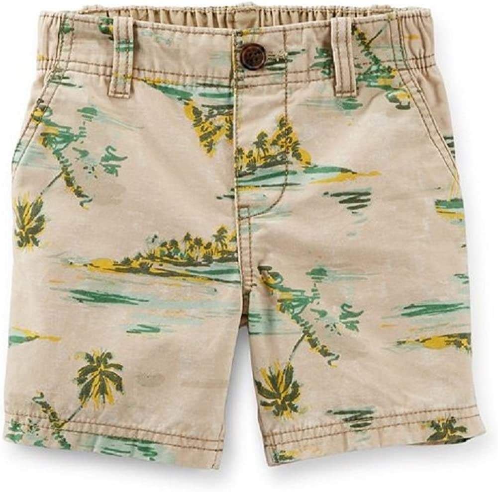 Carter's Little Boys' Print Khaki Shorts (Toddler/Kid)