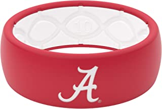 Silicone Ring - Groove Life NCAA University of Alabama Roll Tide Rubber Band for Men and Women with Lifetime Coverage, Breathable Grooves, Comfort Fit, and Durability - Original