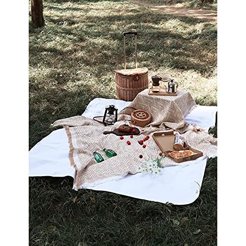 Cherry blossoms Alfombras de picnic para picnics, alfombras de camping al aire libre, esteras portátiles a prueba de humedad para picnics de césped