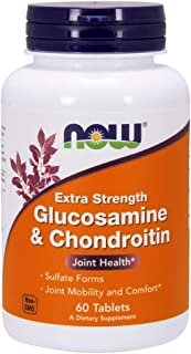 NOW Supplements, Glucosamine & Chondroitin Extra Strength, Sulfate Forms, 60 Tablets
