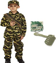 GUBA Army BOY Kids Soldier Camouflage Fancy Dress Costume Outfit Bullet Belt Dog TAG